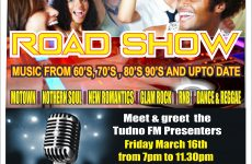 Meet and greet Tudno FM Presenters at the Musical mix Night Party Roadshow Friday 16th March 7pm to 11.30pm