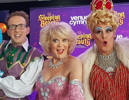It's a beauty! Stars get ready for glittering panto night